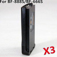 Wholesale BaoFeng Original Radio Battery For BF S BF S BF S Walkie Talkie DC3 V mAh Capacity