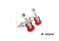 Wholesale Film amp music men s jewelry cuff links for men s cufflinks Guitar