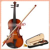 Wholesale From USA Violin Natural Acoustic Violin Case Bow Rosin New High Quality Y00326