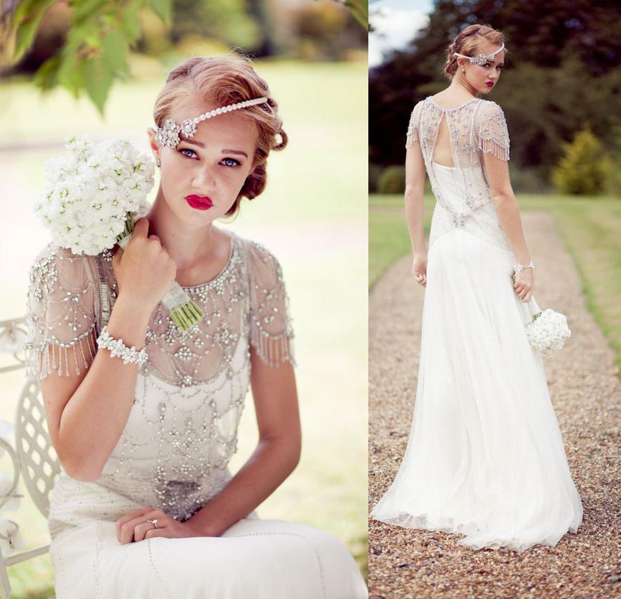 Wedding Dresses With Cap Sleeves And Bling 30
