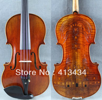 Cheap Stradivari Luxury Royal Castle Carved Back 4 4 Violin M5160 Old spruce