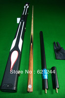 Wholesale One Piece Handmade Splices Ash Shaft Snooker or Pool Cue with Free Cue Case Mini Butt Longer Extension