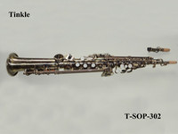 Wholesale Antique bronze straight soprano saxophone with canvase case