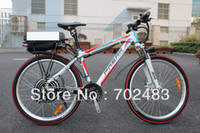 Wholesale 2013 New Off Road V W White Dragon Electric Bike with V AH Li ion Battery with F R Disc Brake Electric Bicycle Ebike