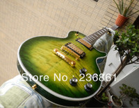 Wholesale new brand g les custom Crystal green signature Electric Guitar