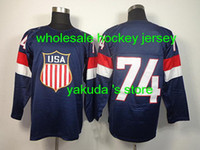 2014 Sochi Olympic Team USA #74 Oshie Dark Blue Man Ice Hock...