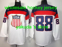 Ice Hockey Men Full 2014 Sochi Olympic Team USA 88 Patrick Kane White Hockey Jersey, New National Team Hockey Jerseys