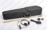 Wholesale Violin New Electric Violin Solid wood silent Fine tone Parts Include Monochrome Blue Yellow Red Black Ect