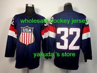 Cheap 2014 Sochi Olympics Team USA Jerseys Ice Hockey Jerseys Men`s Jonathan Quick 32# Dark Blue Hockey Jerseys, Sports Jersey.Stitched Logo
