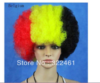 belgium wig - synthetic party wigs national flag wigs Belgium halloween cosplay wigs