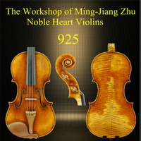 Cheap Free shipping 4 4 925 handmade violin of Ming-Jiang Zhu Workshop