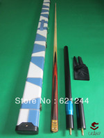 Wholesale One Piece quot Handmade Splices Ash Shaft Snooker Cue Pool Cue with Free Cue Case Mini Butt Longer Extension and Glove
