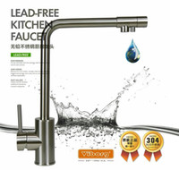 Wholesale VIBORG way Stainless Steel Lead free Kitchen Faucet Mixer Drinking Water Filter Tap with Filtered purified Water Spout
