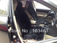 Wholesale Patchwrok Sheepskin car seat cover Black color