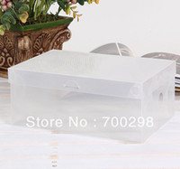 Wholesale 100pcs Women s Plastic Clear Shoes Box Storage Organizer cm cm cm