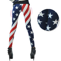 flags and banners - Hot Sale New USA flag American STARS AND BANNER flag Tights Women Fashion rock Punk Bottoming Sexy legging ladies legging