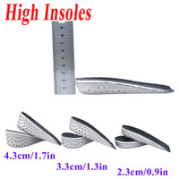 Soles Solid Black New Arrival Men Women Unisex Memory Foam Increase Height High Half Insoles Shoe Inserts Cushion Pads Wholesale