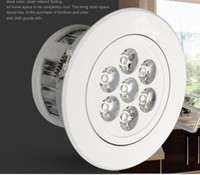Cheap LED DownLight Dimmable CREE 3W 5W 7W items White shell 330-770LM Bathroom living room kitchen light 6pcs lot