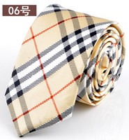 Wholesale 25pcs Handmade Slim Design Europe College Style Polyester Neck Ties Men Women Unisex Fashion Stripe Students Daily Wear Smart Dress Tie Gift