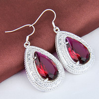 amethyst price - lowest price Mother s Day gift Sterling Silver Fashion Rose amethyst Earrings CE0376