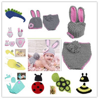 Unisex Winter Newborn Hat Soft Baby Beanie Sets Photography Props Children's Crochet Cotton Infant Costume Outfits More Styles Optional DEG*1