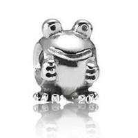 Cheap 925 Sterling Silver frog charm European Bead Compatible with Snake chain Bracelets stamped 925 beads for jewelry making