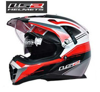 off road dirt bike - New LS2 motorcycle helmet MX455 dual lens professional off road dirt bike helmet full face helmet safety adjustable airbags