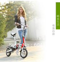 Wholesale Hot by DHL Electric folding bicycle bike scooter CE certification approval Tire Li battey v ah Motor200w