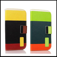 Cheap Candy color Leather Wallet Stand Design Case for iPhone 5 5S 5G Mobile Phone Bag Cover Luxury With Card Holder