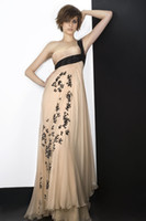 Cheap 2014 New Collection Zuhair Murad Evening Gowns Prom Dresses With One-Shoulder Backless Appliques Sequins Cascading Ruffles Floor-Length