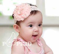 big paper rose - Two style dimension cm cm Children big rose flower headband girls baby lace princess headbands K0275