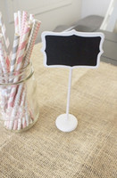 Cheap Free Shipping| 100 x WHITE MINI CHALKBOARD BLACKBOARDS ON STICK STAND PLACE HOLDER BRAND-NEW | WEDDING Party Decorations