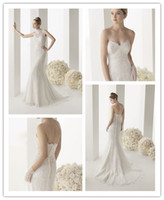 A-Line Reference Images Sweetheart 2014 Summer Wedding Dresses RosaClara A-line Sexy Sweetheart Free High Collar Jacket Lace Ivory White Court-Train Backless Wedding Gowns
