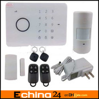 Cheap G5 315MHZ GSM SMS RFID Quad-band RFID Touch Alarm System G5 50 Zones Touch Keypad GSM Phone SMS Wireless Home Securit