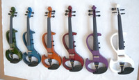 Wholesale 4 Electric Violin Powerful Sound Solid wood orange Big Jack