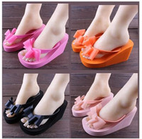 Wholesale 2014 women sandals high heeled platform shoes flip flops