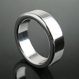 Wholesale Men Cock Ring Stainless Steel Adult Chastity SM Fetish Ejaculation Delay Sexy Bondage Toy Size Choose Male Penis Chastity Ring