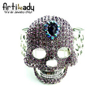 Wholesale Artilady B2902 vintage big skull bangle color MIQ PC top high quality new style