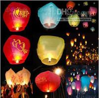 Vente Hot New Game Nouveauté Lanterne Souhaitant montgolfière Kongming Lanterne chinoise Styles souhaits Lampe Sky lanternes Mix