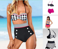 Wholesale 2014 Fashion Swimwear High Waist Bikini Set Sexy Women Swimwears Women Swimsuit Fashion Swimweare Brand High Waist Swimwear