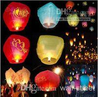 Cheap Brand New KoreanNovelty Game Wishing Lantern fire balloon Chinese Kongming lantern Wish Lamp Sky Lanterns Mix Styles