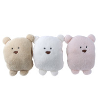 Wholesale New Rabbit Hand Warm Winter Pillow Cushion Stuffed Animal Baby Adult Plush Bear Toy Small Size Freeshipping