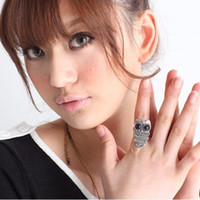Wholesale Owl Rings For Women Court Vintage Silver Color Owl Rings Cheap Jewelry