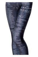 al por mayor las medias de las mujeres-2014 Los pantalones delgados apretados punkyes punkyes de la aptitud de las polainas del ALPHABET de las NUEVAS mujeres libres de la manera del envío