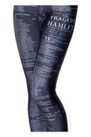 al por mayor las medias de las mujeres-Pantalones 2014 NUEVAS mujeres libres del envío de la manera atractiva del alfabeto de la roca del apretado polainas delgadas aptitud