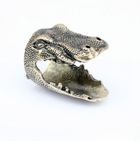 Wholesale Punk Style Dinosaurs Head Rings For Women Vintage Statement Jewelry