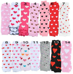 Hot Sale New Valentine's Day Toddler Infant Sweet Heart Cotton Leg Warmers 24Pair lot Melee