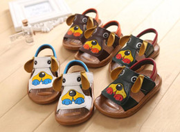 Wholesale New Arrival children sandals dog baby shoes yards kids leather sandals cartoon baby shoes toddler shoes pairs