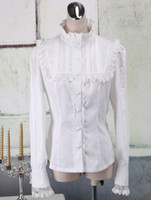 Wholesale Quality Stand Collar Cotton Long Sleeves Sexy Lolita Cosplay Costume latex clothing r69 u7 EQc