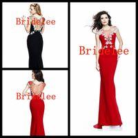 beaded picture frames - 2014 Hot Sexy Curved Illusion Neckline Frames Cap Sleeves Bodice Mermaid Chiffon Evening Prom Dresses Tarik Ediz Dress
